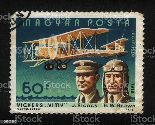 Hungarian Postage stamp, Vintage Plane