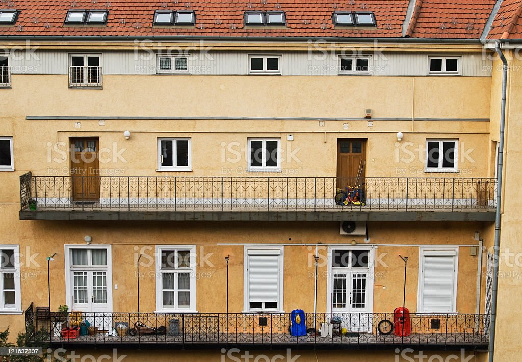 Hungarian residential building royalty-free stock photo