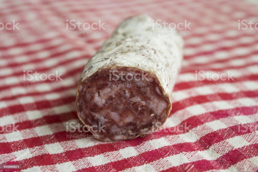 hungarian salami stock photo