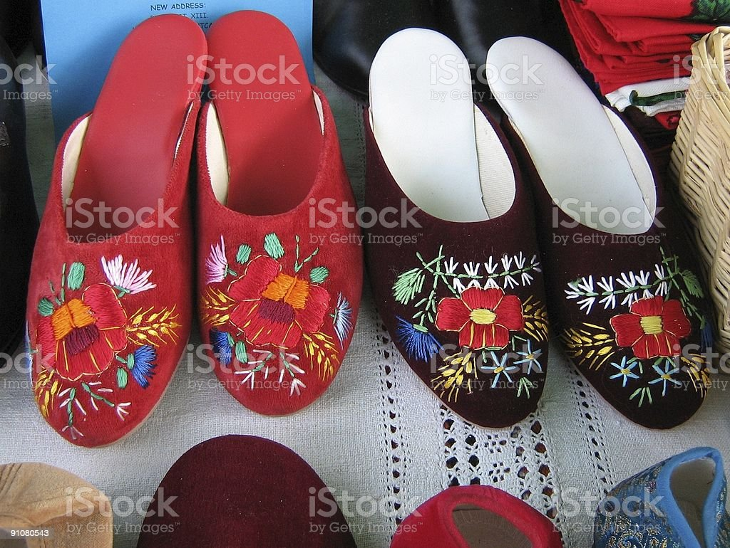 Hungarian Slippers royalty-free stock photo