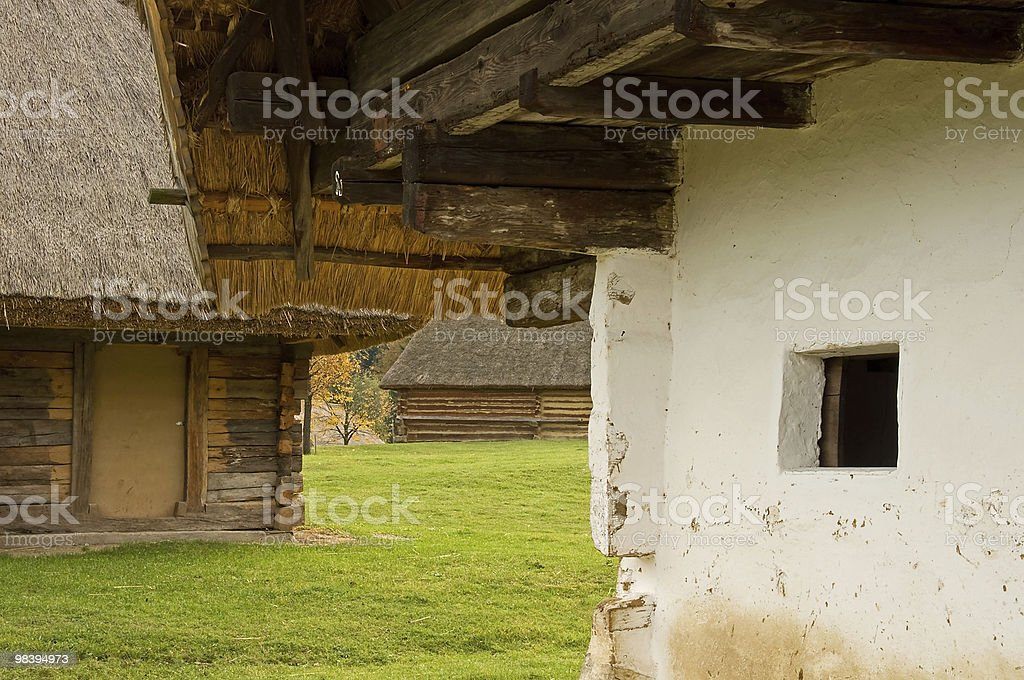 Hungarian village scene royalty-free stock photo