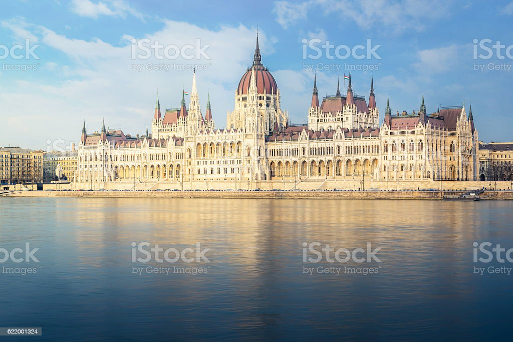 Hungarin Parliement Building - Budapest stock photo