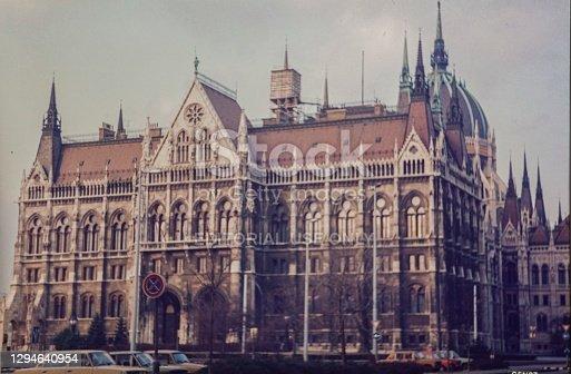 Budapest, Hungary September 1982: Hungarian parliament building