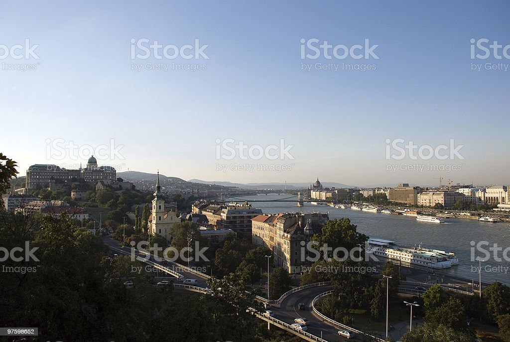 Hongrie. Budapest. Soirée. photo libre de droits