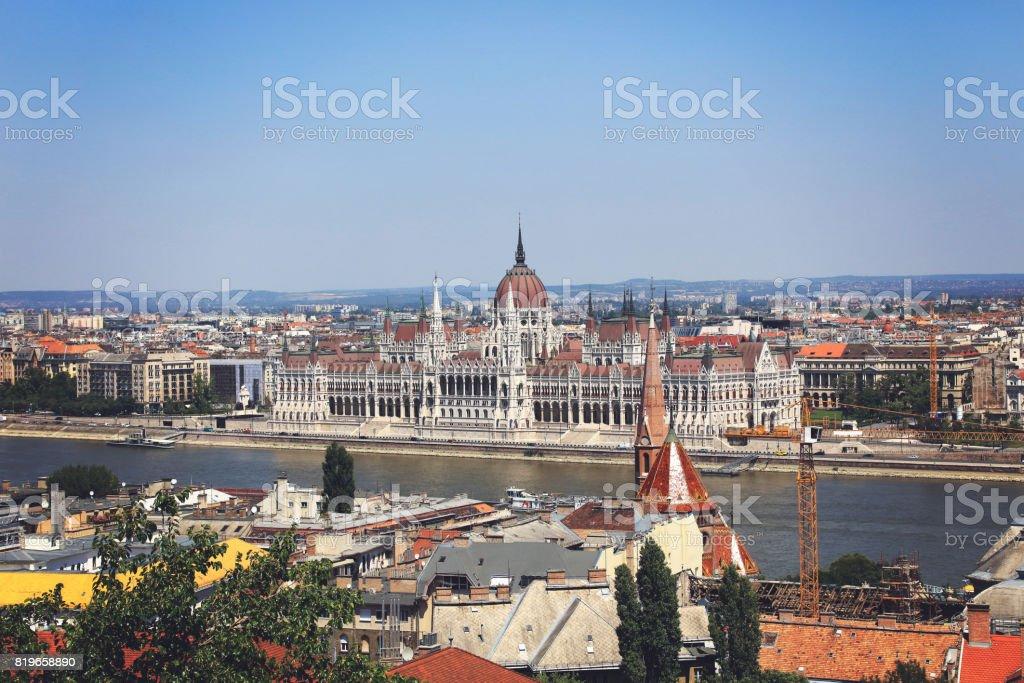 Hungary, Budapest, Hungarian Parliament, Parliament building stock photo