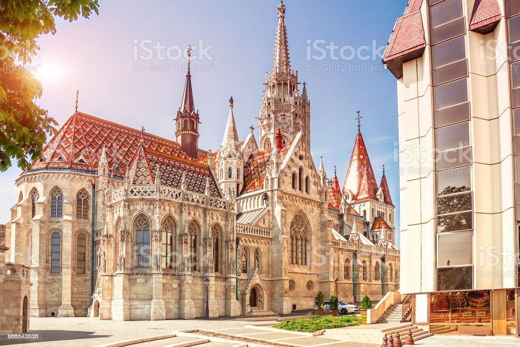 Hongarije. Budapest. St. Matthias kerk in Boedapest. foto
