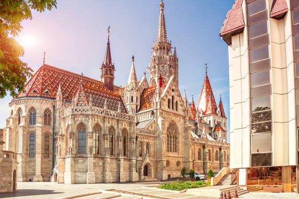 匈牙利。布達佩斯。聖馬蒂亞斯教堂在布達佩斯。 - 匈牙利文化 個照片及圖片檔