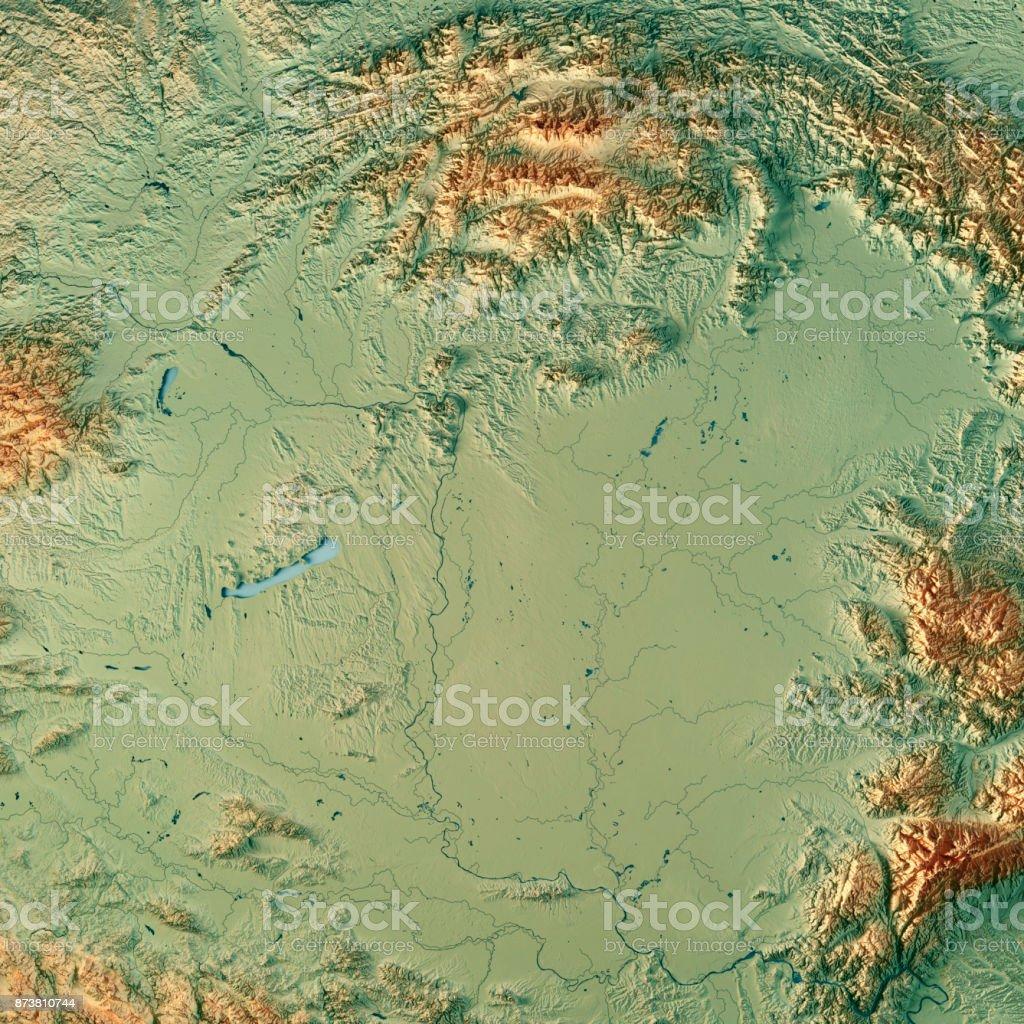 Topographische Karte Ungarn.Ungarn Land 3drender Topographische Karte Stockfoto Und Mehr Bilder Von Berg