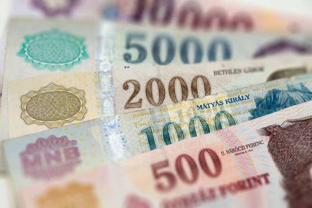 Hungary Currency - paper money stock photo