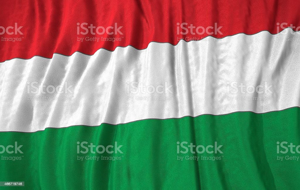Hungary flag 3d illustration stock photo