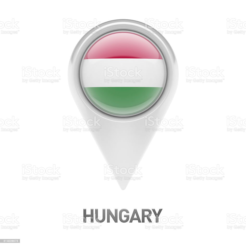 Hungary Flag Icon stock photo