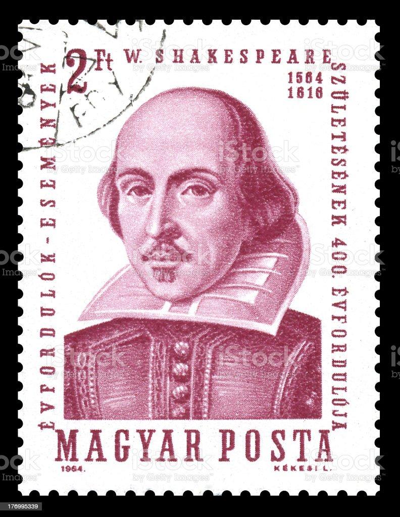 Hungary Postage Stamp William Shakespeare royalty-free stock photo