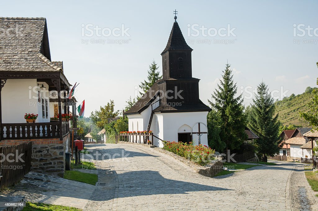 hungary village stock photo