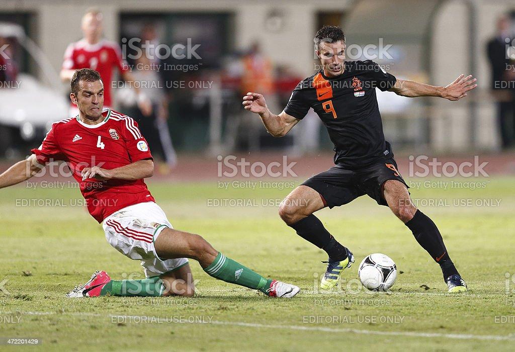 Hungary vs. Netherlands stock photo