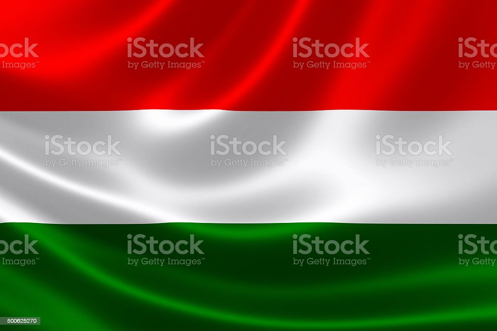 Hungary's National Flag stock photo