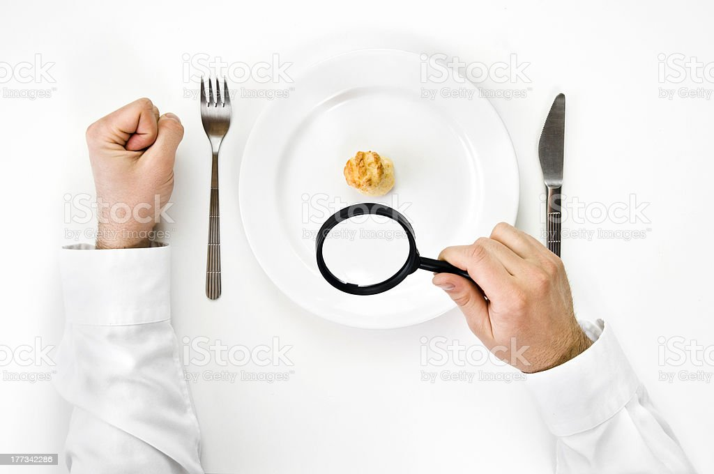 Hunger and diet concept. stock photo
