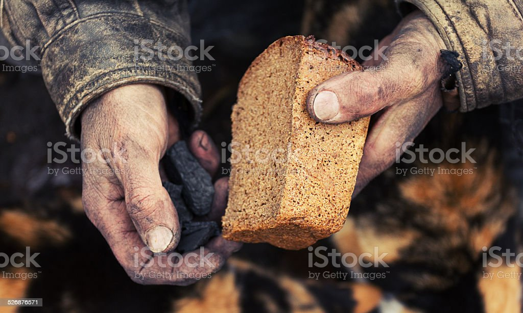 Hunger and poverty stock photo