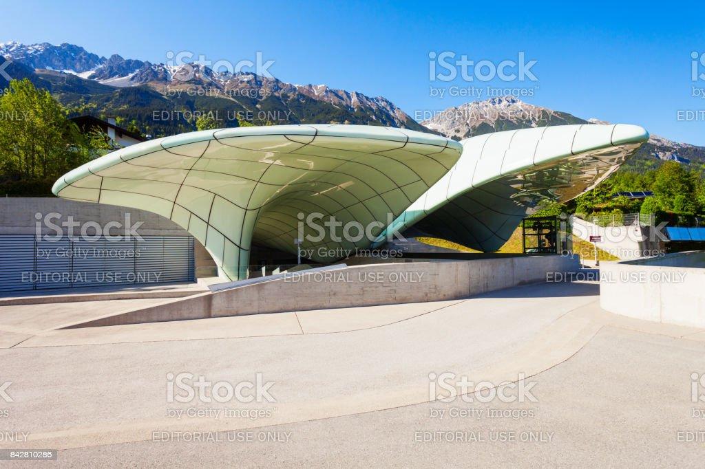 Hungerburgbahn funicular railway, Innsbruck stock photo