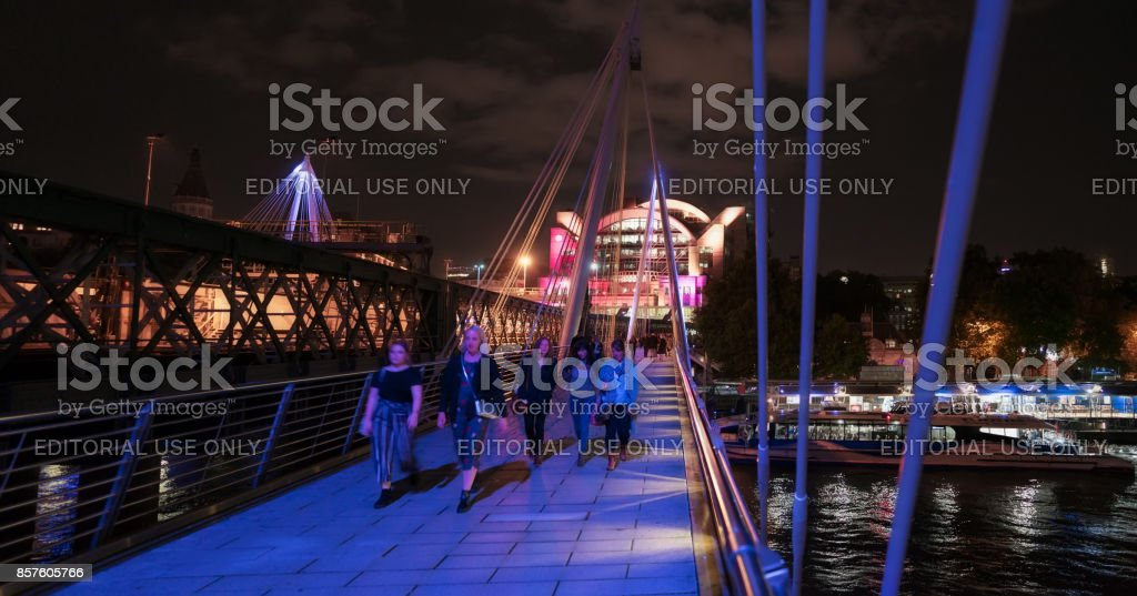 Hungerford Bridge in central London stock photo