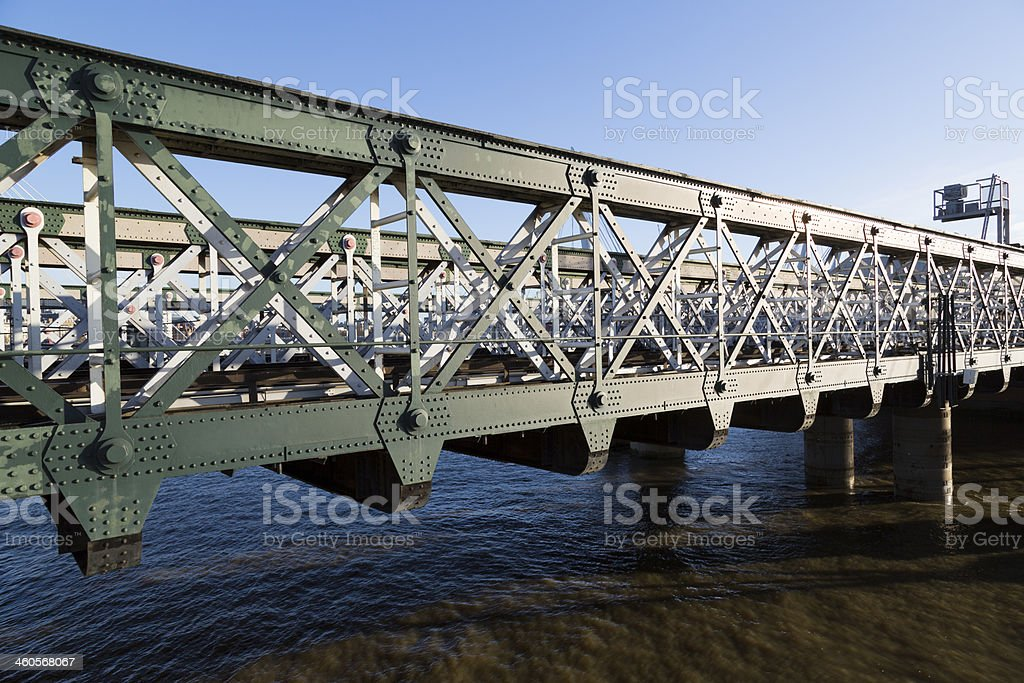 Hungerford Bridge royalty-free stock photo