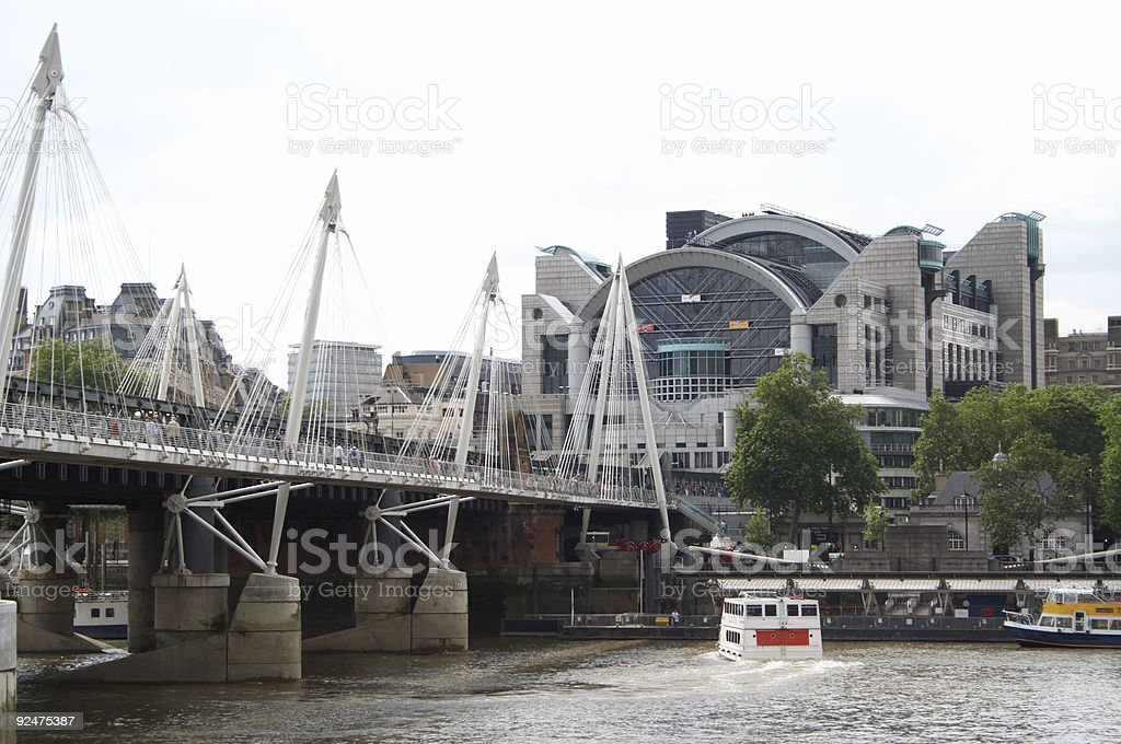 Hungerford Bridge to Charing Cross 1 royalty-free stock photo