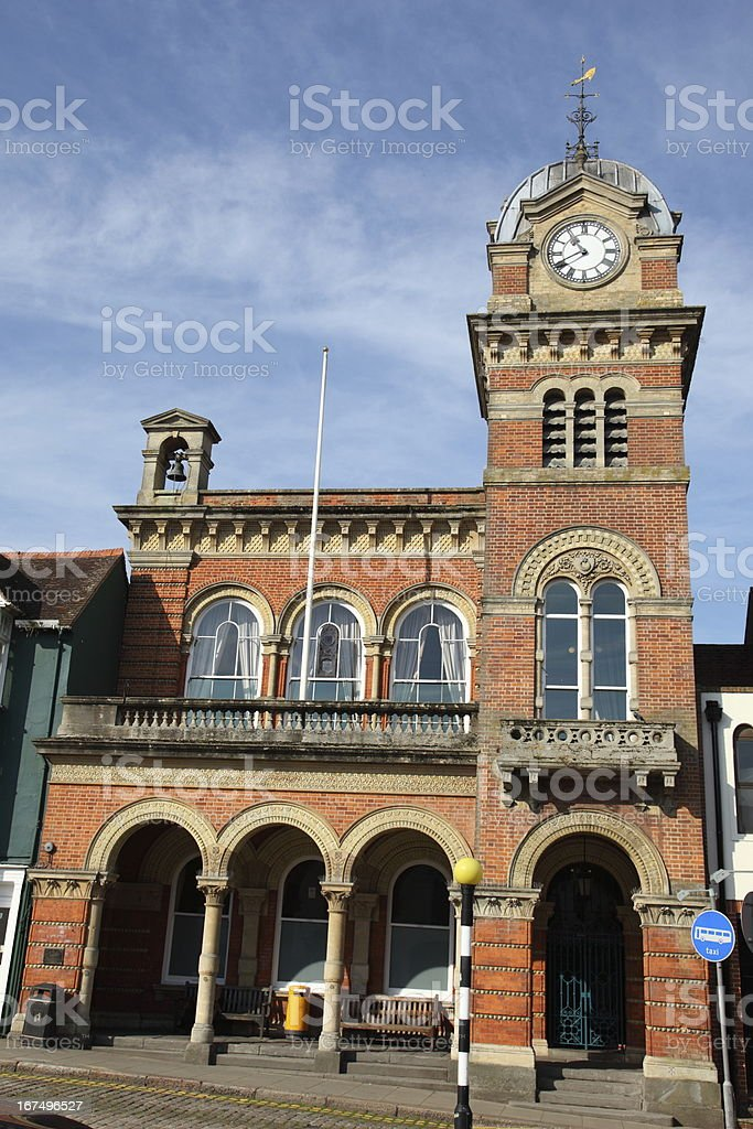Hungerford Town Hall stock photo