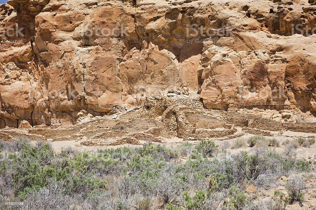 Hungo Pavi Ruins - Chaco Culture National Historical Park stock photo