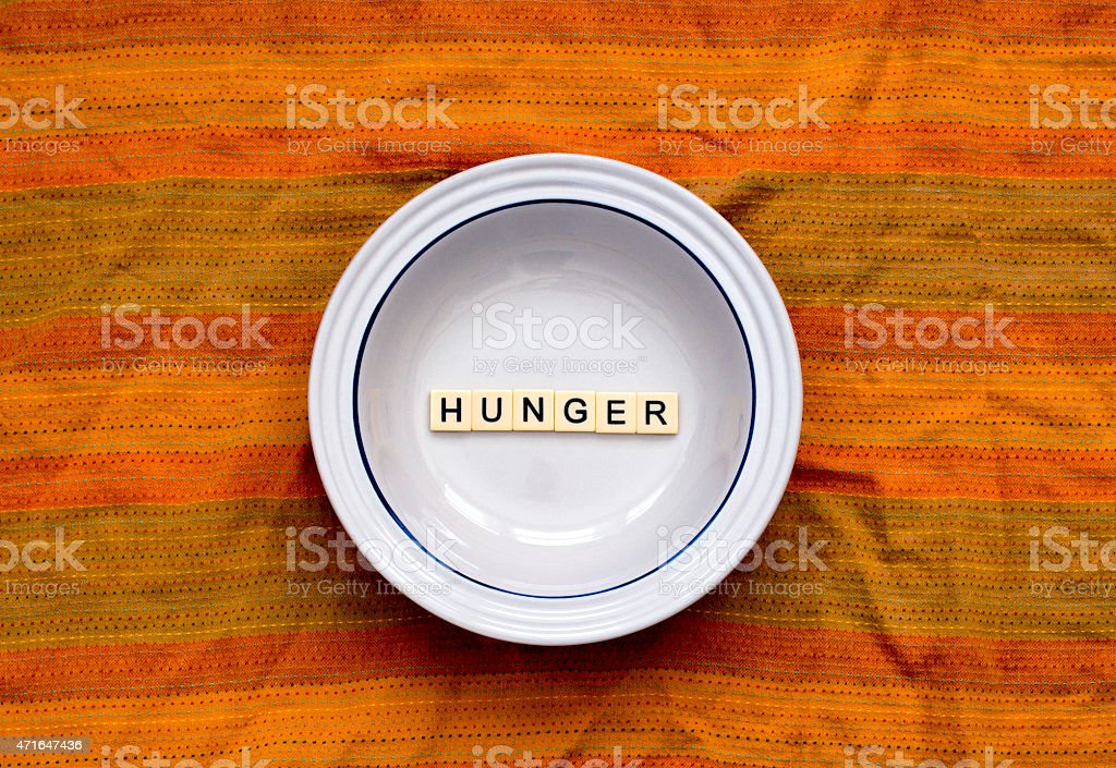 Hungry 3 stock photo