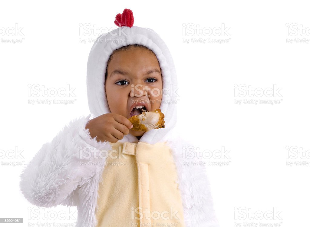 Hungry Chicken royalty-free stock photo