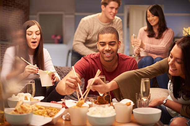 hungry house - chinese food stock photos and pictures