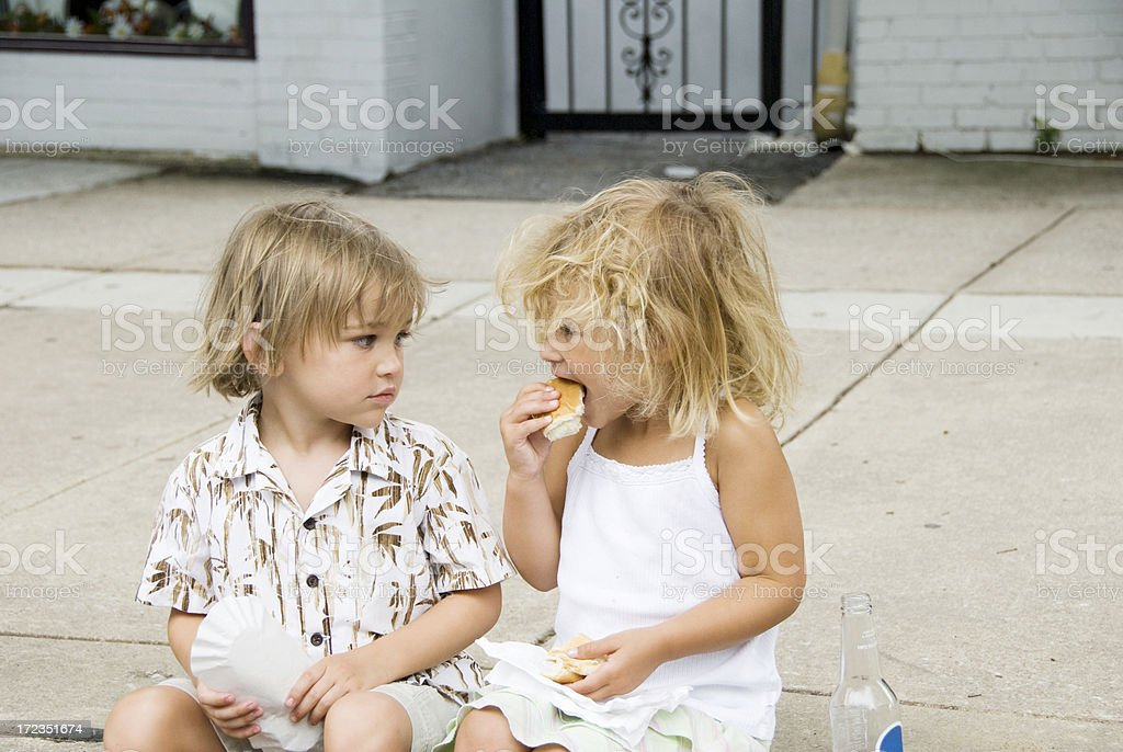 Hungry Little Boy royalty-free stock photo