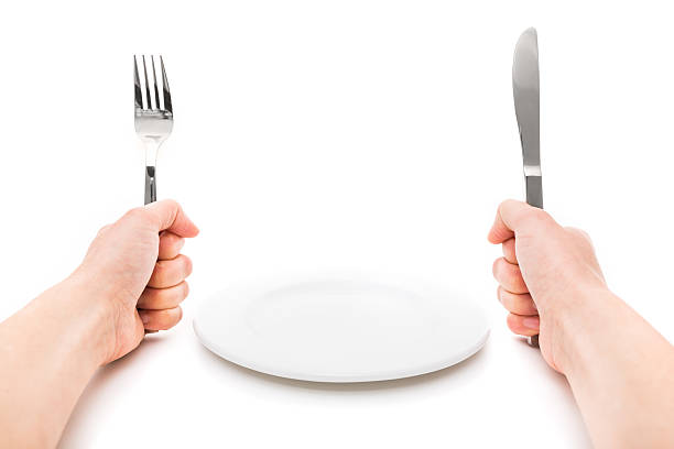 hungry - table knife stock pictures, royalty-free photos & images