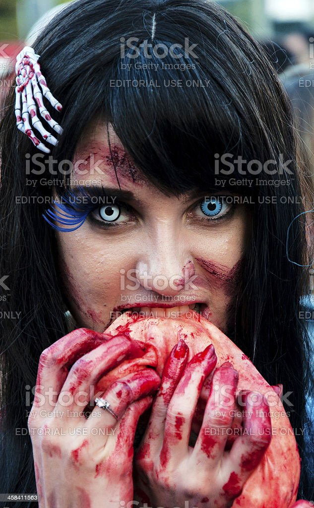 Hungry zombie royalty-free stock photo