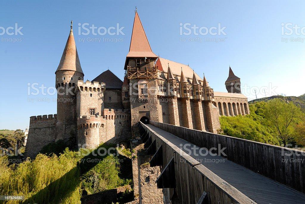 Huniazilor castle stock photo