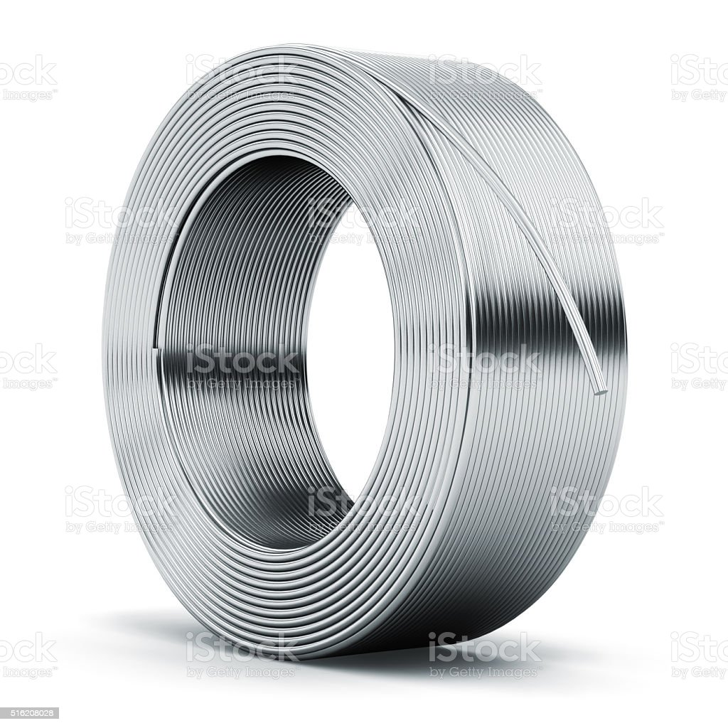 Hunk of metal cable stock photo