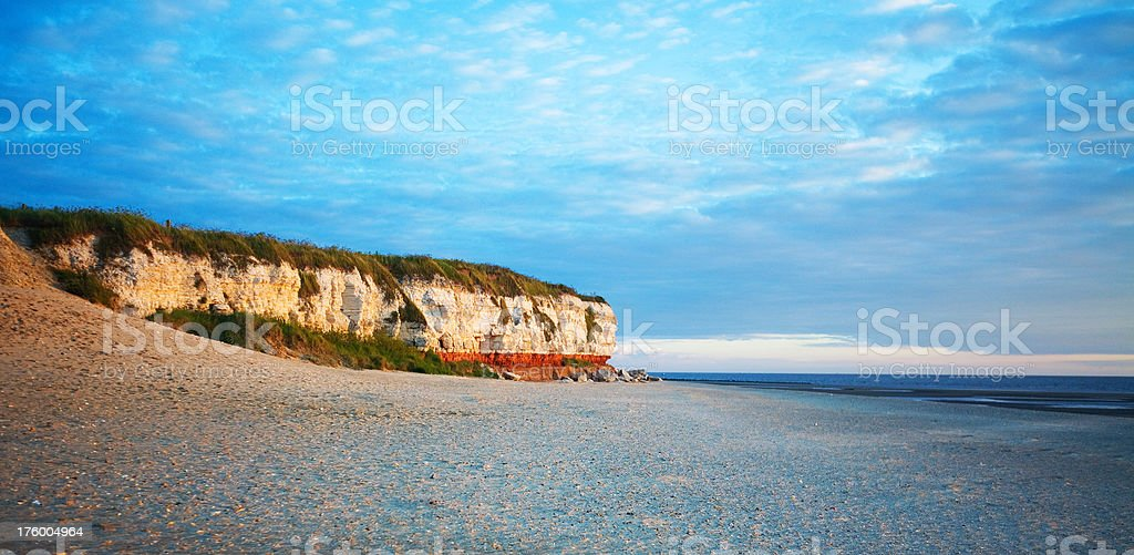 Hunstanton Cliffs, Norfolk UK royalty-free stock photo