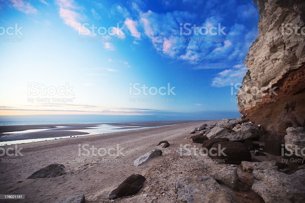 Hunstanton Cliffs, Norfolk UK royalty-free stock photo