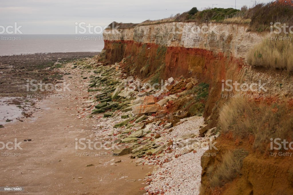 Hunstanton cliffs stock photo
