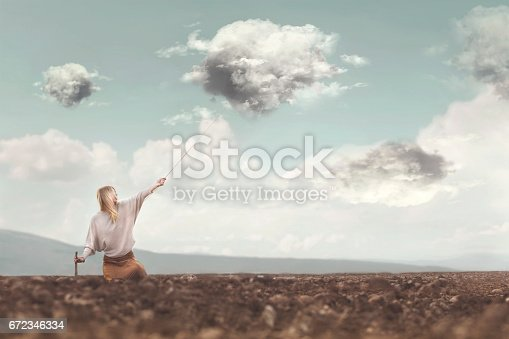 istock hunter clouds dominates with courage its clouds 672346334