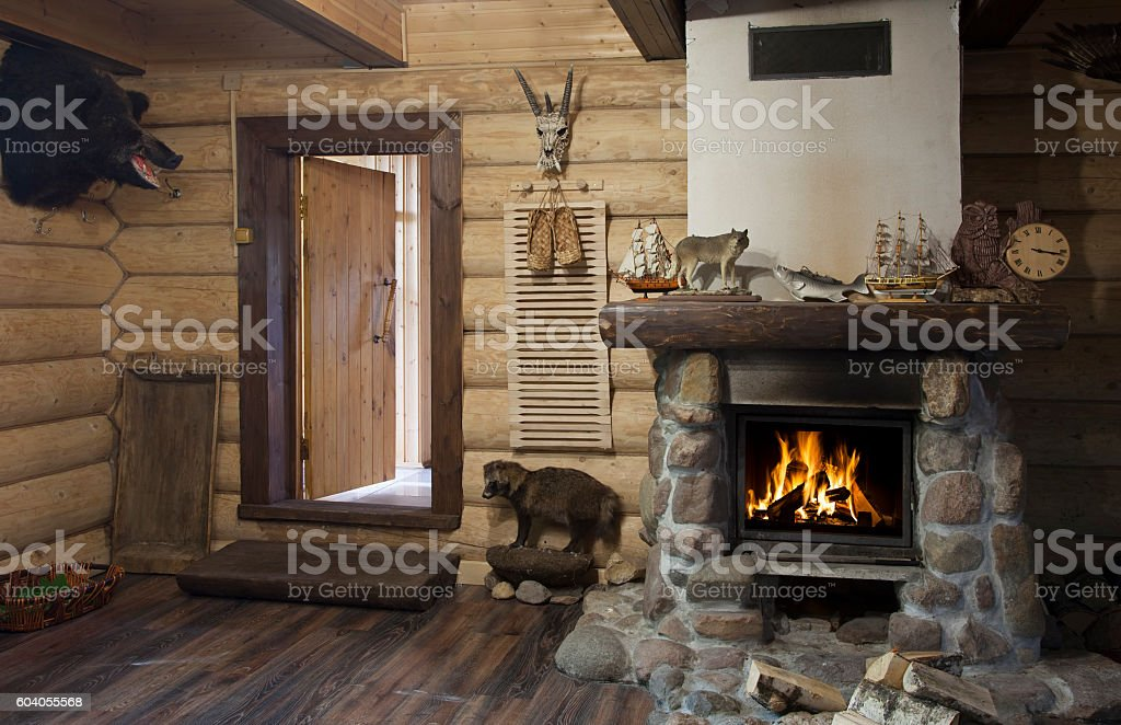 Hunter house interior stock photo