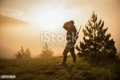 istock Hunter in the nature 657510928