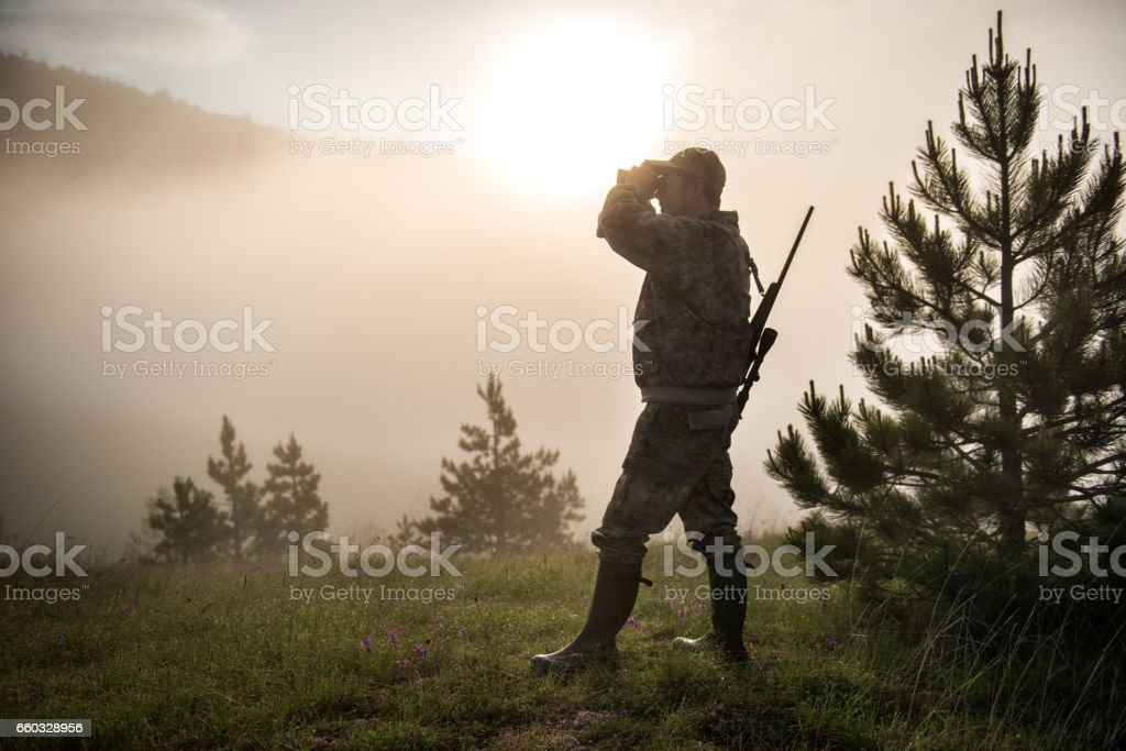 Hunter in the nature stock photo