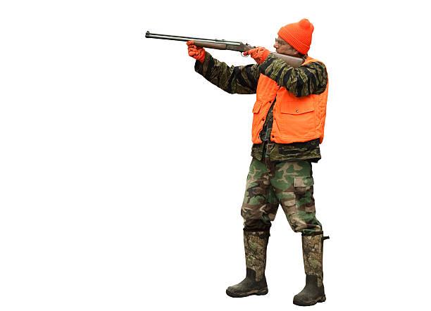 hunter isolated stock photo