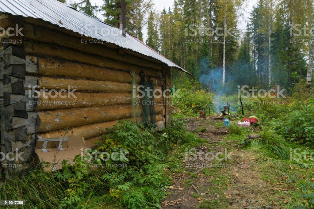 Hunter lodge stock photo