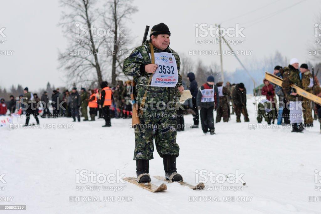 Hunting Biathlon stock photo