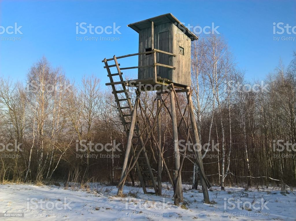Hunting Blind High stock photo