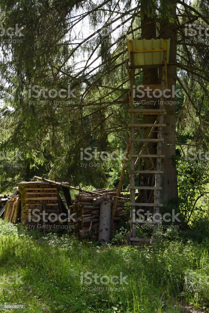 hunting blind stock photo
