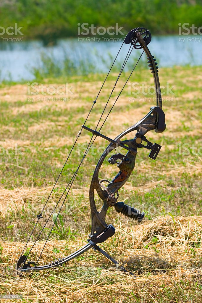 Hunting bow royalty-free stock photo