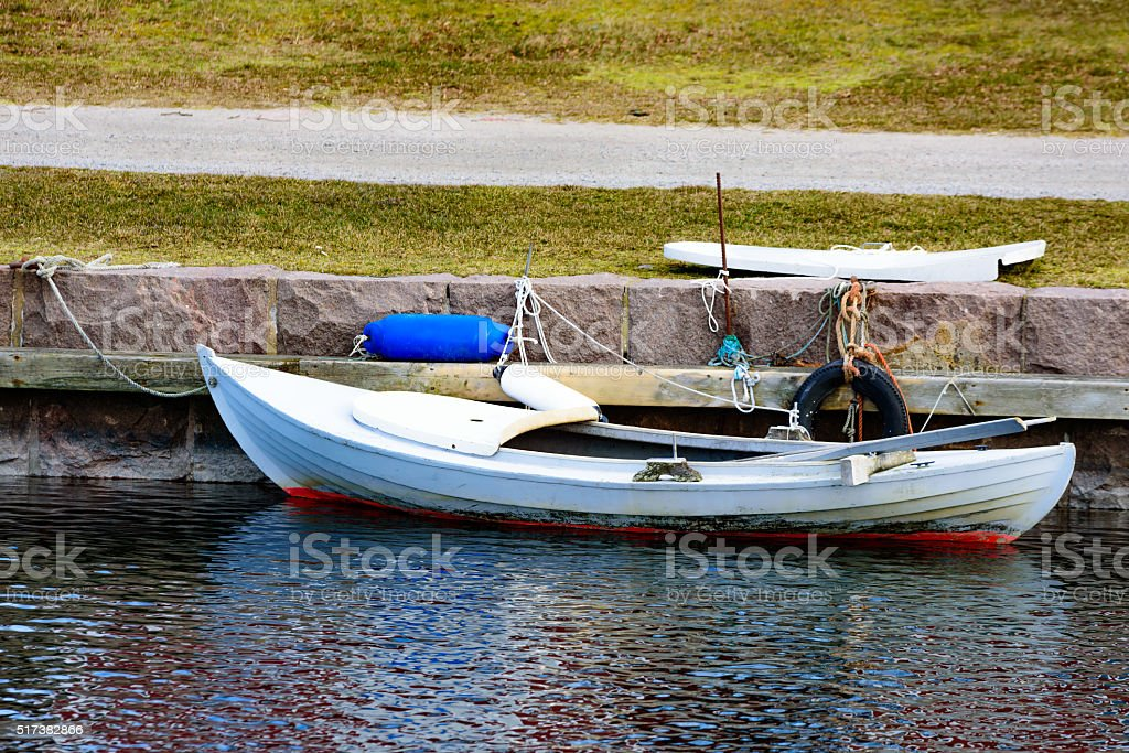 Hunting canoe stock photo
