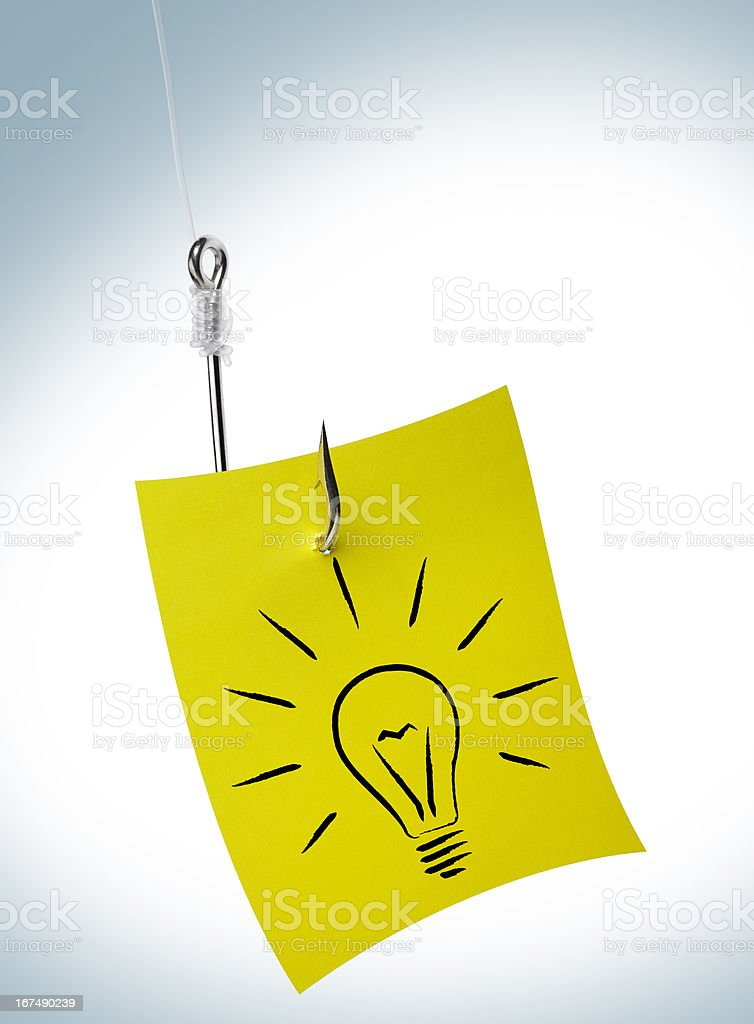 Hunting for a good idea. royalty-free stock photo